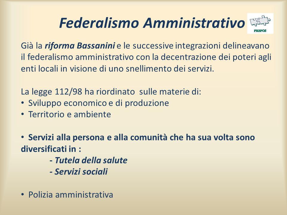 Federalismo Amministrativo
