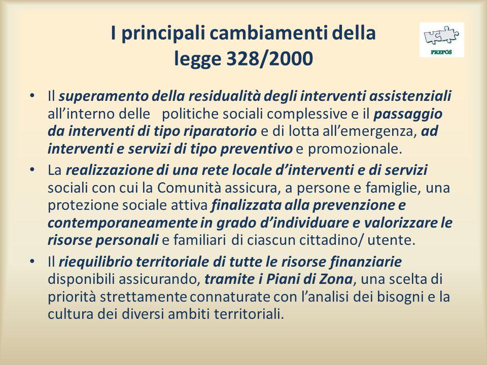I principali cambiamenti della legge 328/2000