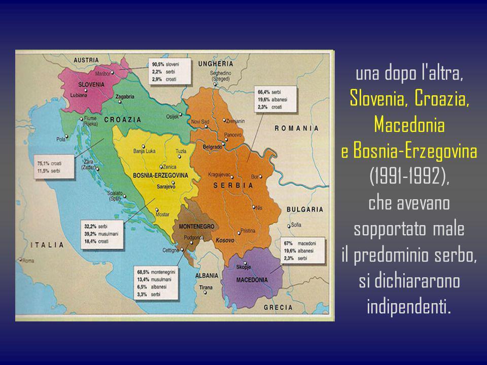 una dopo l altra, Slovenia, Croazia, Macedonia