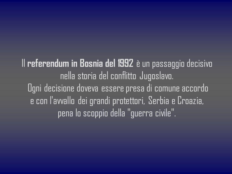 Il referendum in Bosnia del 1992 è un passaggio decisivo