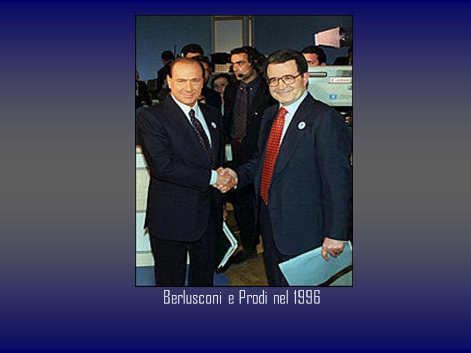 Berlusconi e Prodi nel 1996