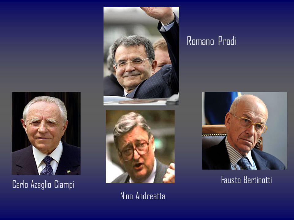 Romano Prodi Fausto Bertinotti Carlo Azeglio Ciampi Nino Andreatta