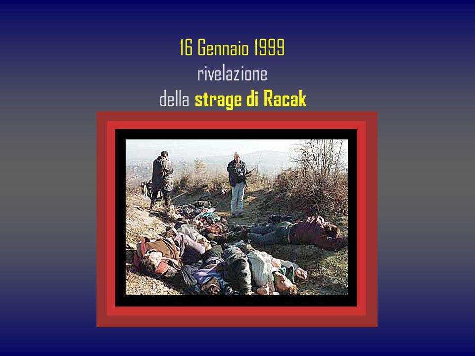16 Gennaio 1999 rivelazione della strage di Racak