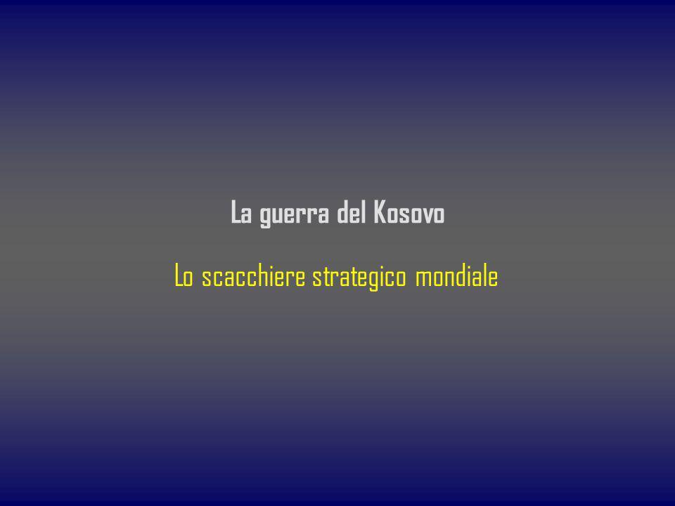 Lo scacchiere strategico mondiale