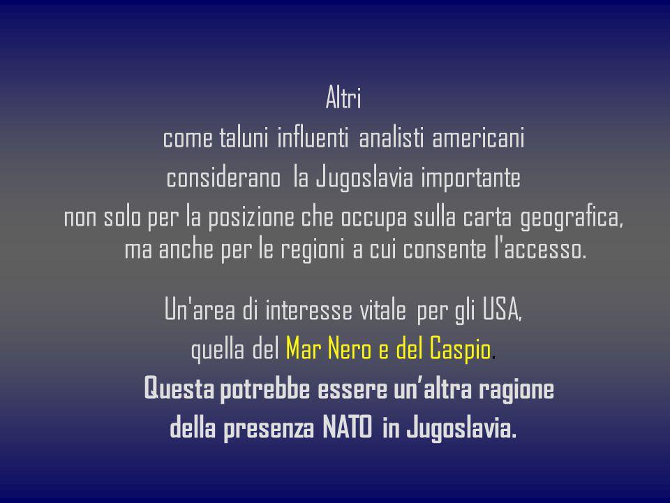 della presenza NATO in Jugoslavia.