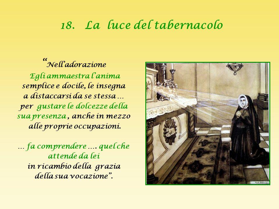 18. La luce del tabernacolo