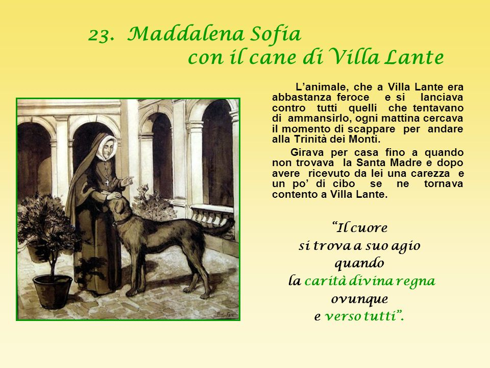 23. Maddalena Sofia con il cane di Villa Lante
