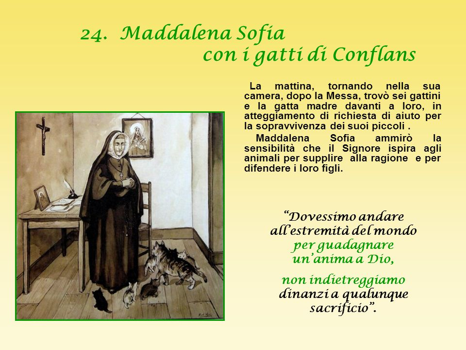 24. Maddalena Sofia con i gatti di Conflans