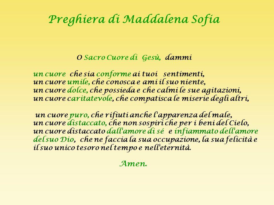 Preghiera di Maddalena Sofia
