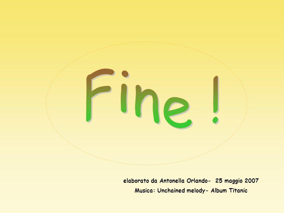 Fine ! elaborato da Antonella Orlando- 25 maggio 2007