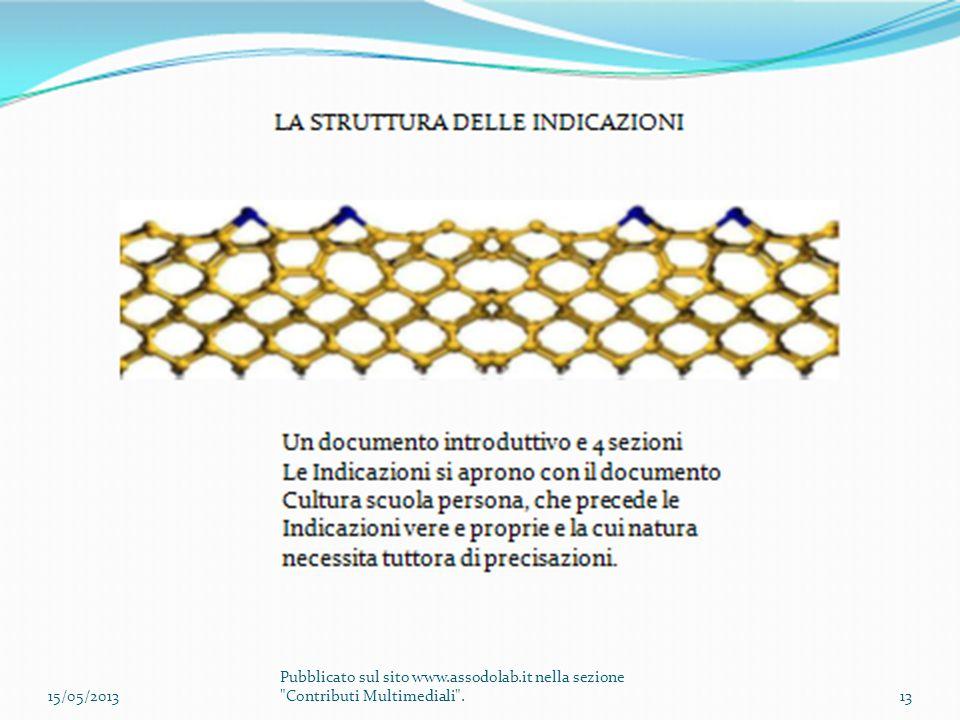 15/05/2013 Pubblicato sul sito www.assodolab.it nella sezione Contributi Multimediali .