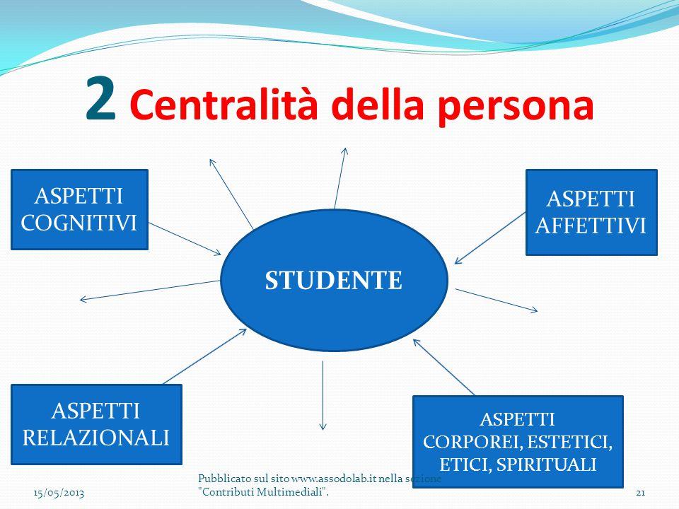 2 Centralità della persona