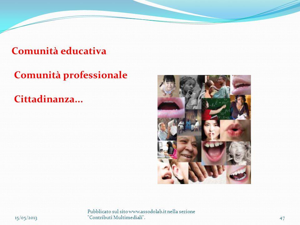 Comunità professionale Cittadinanza...