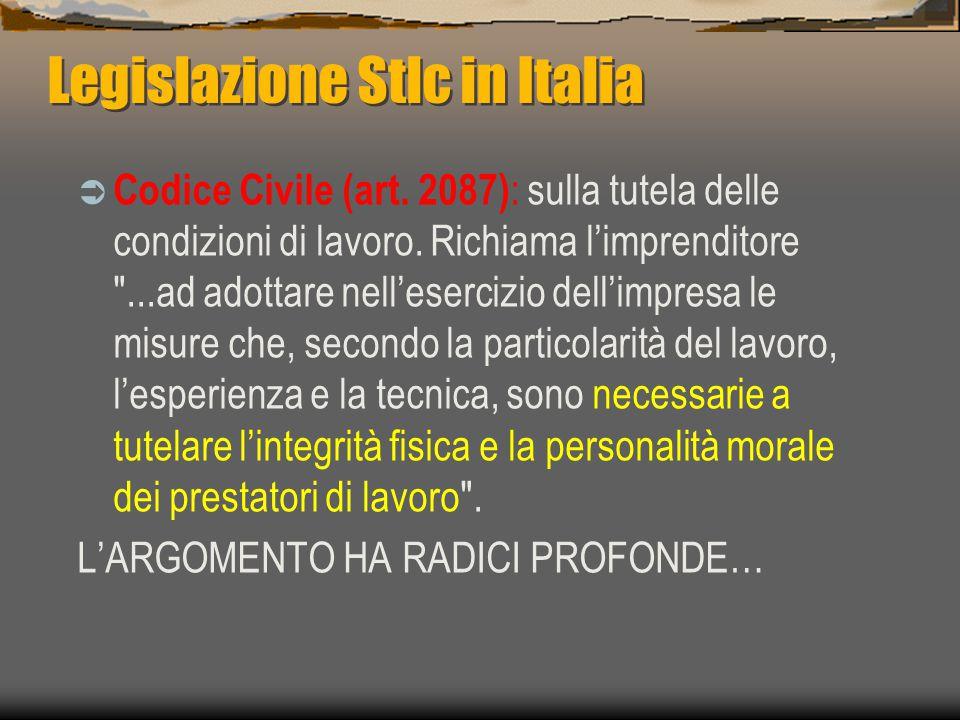 Legislazione Stlc in Italia