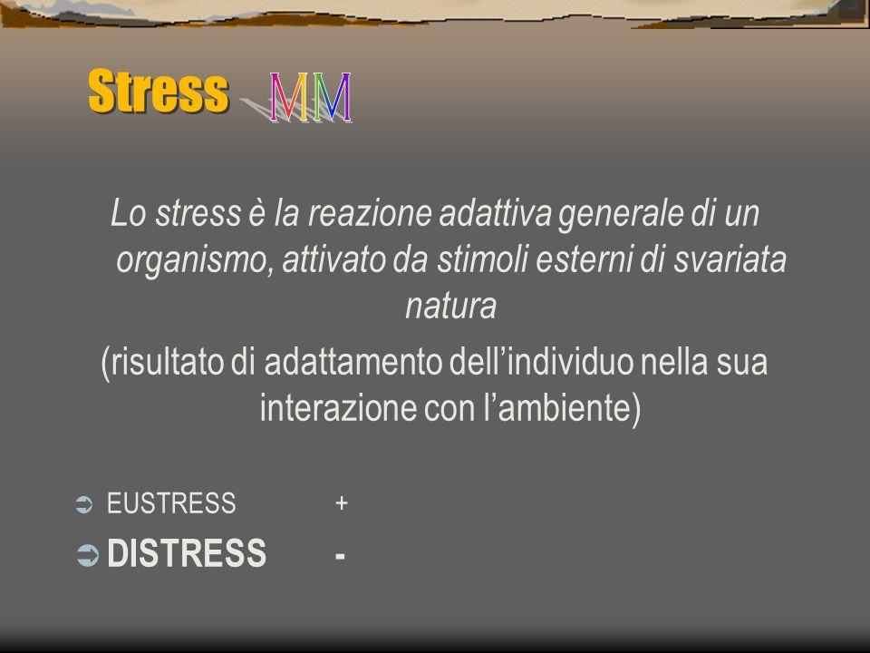 Stress MM. Lo stress è la reazione adattiva generale di un organismo, attivato da stimoli esterni di svariata natura.