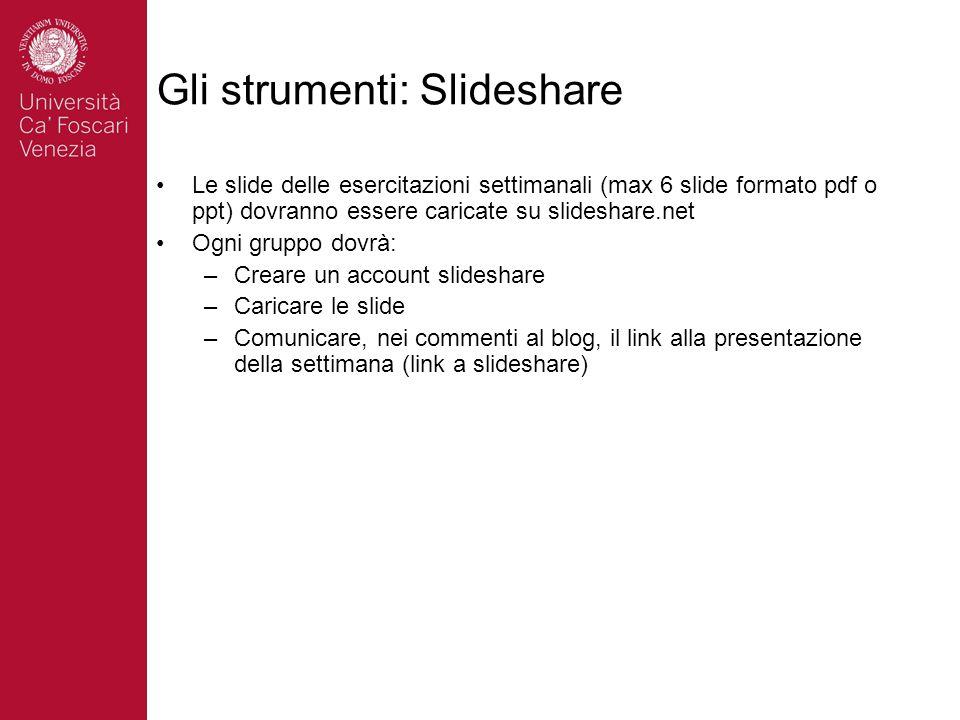 Gli strumenti: Slideshare