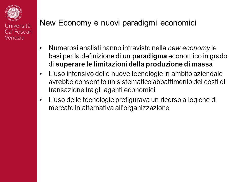 New Economy e nuovi paradigmi economici