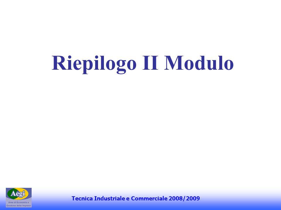 Tecnica Industriale e Commerciale 2008/2009