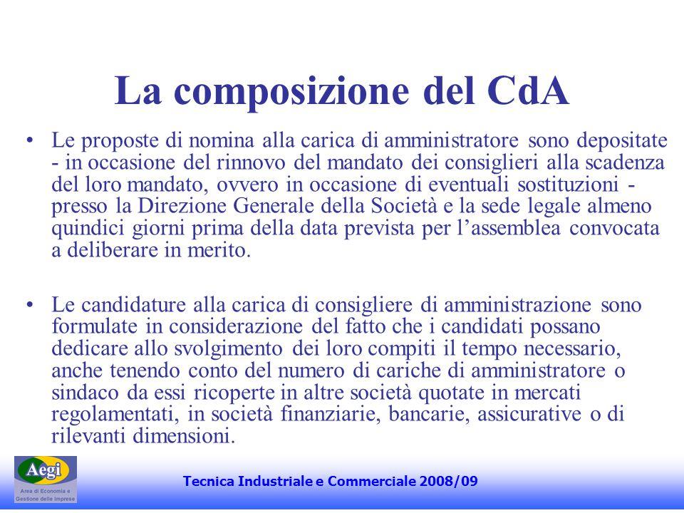 La composizione del CdA