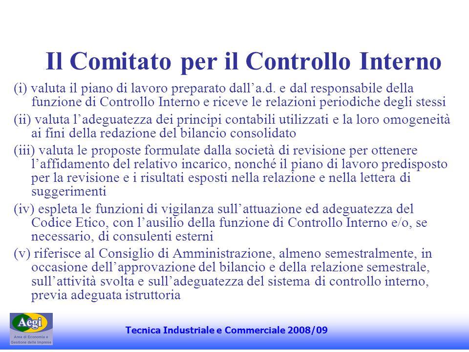 Il Comitato per il Controllo Interno