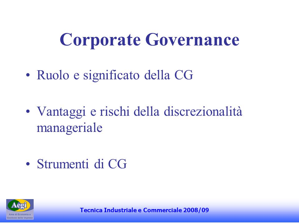 Tecnica Industriale e Commerciale 2008/09