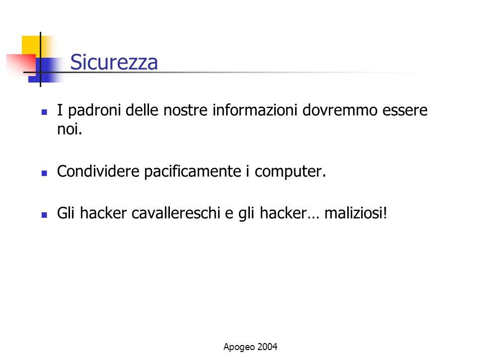 Sicurezza I padroni delle nostre informazioni dovremmo essere noi.