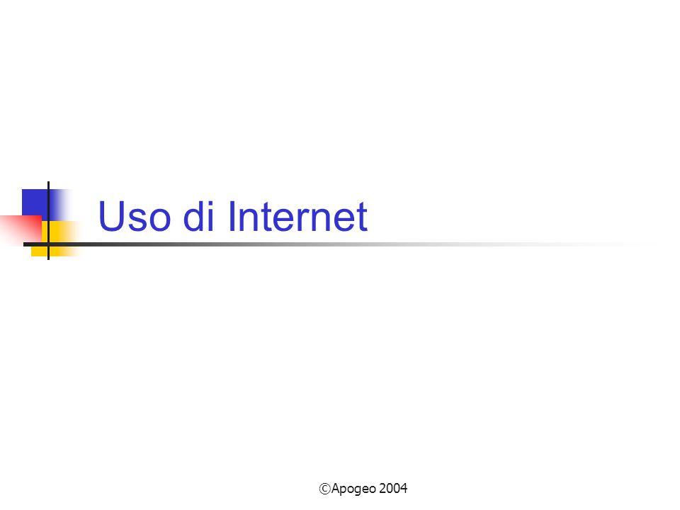 Uso di Internet ©Apogeo 2004