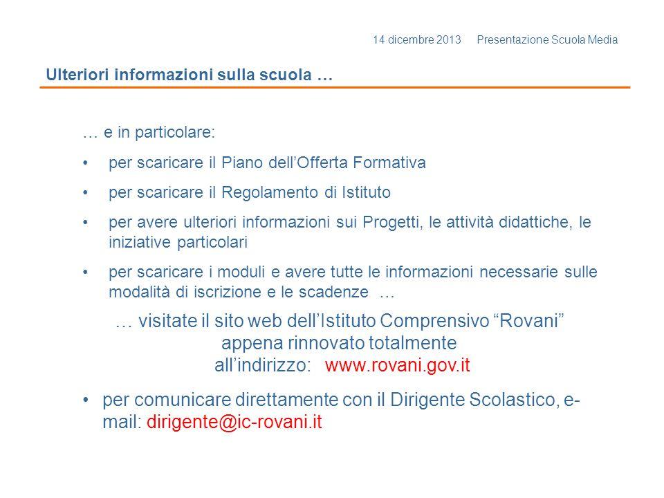 … visitate il sito web dell'Istituto Comprensivo Rovani