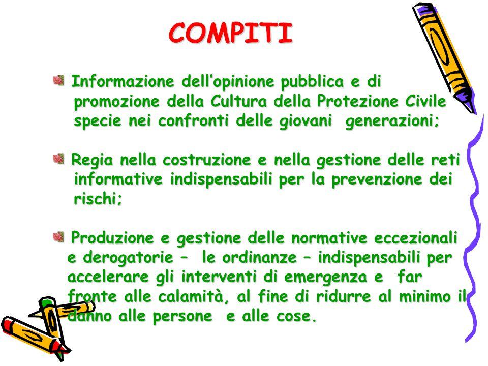 COMPITI Informazione dell'opinione pubblica e di