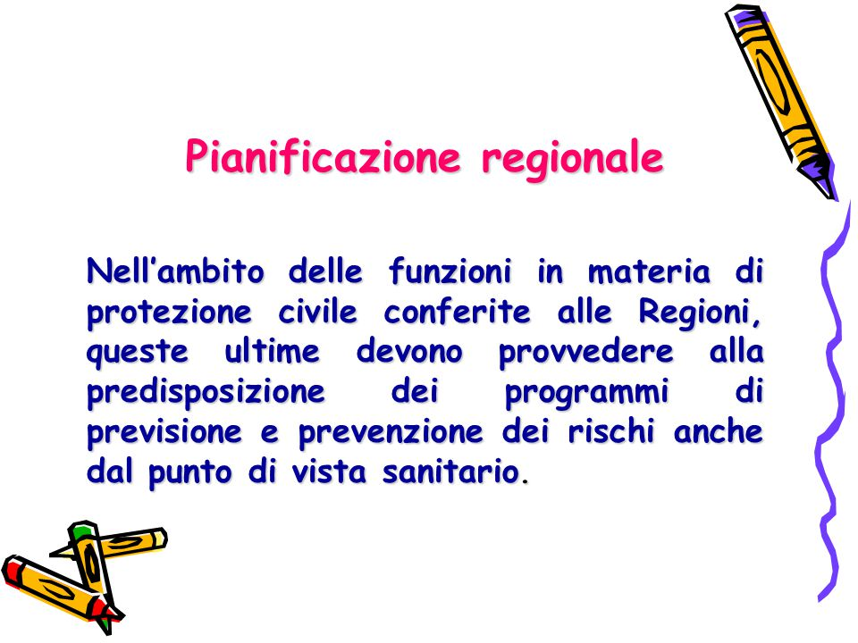 Pianificazione regionale
