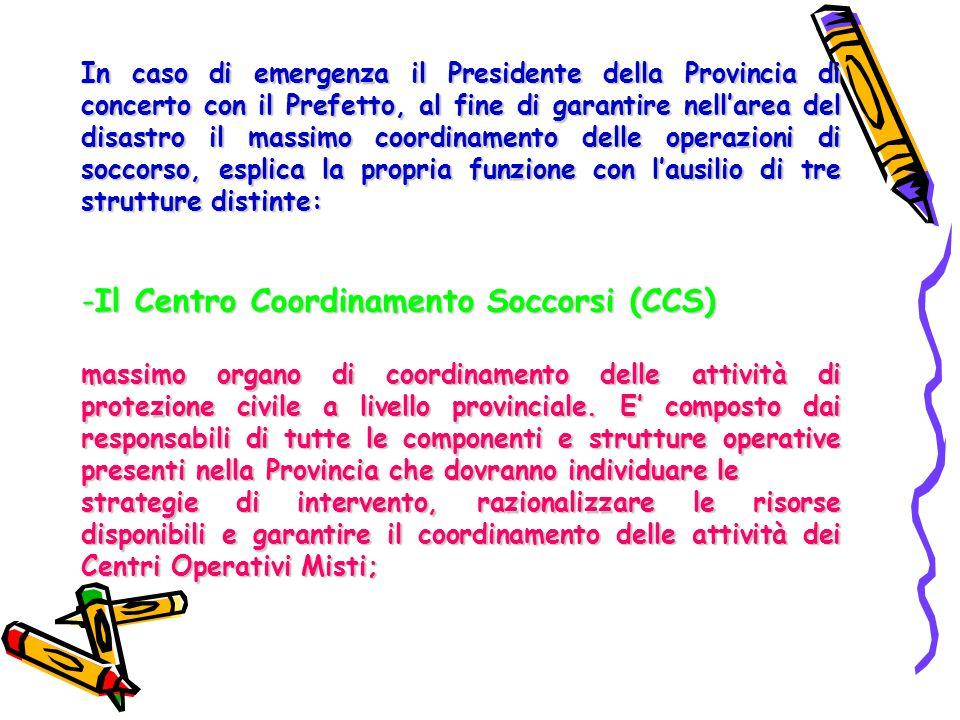 Il Centro Coordinamento Soccorsi (CCS)