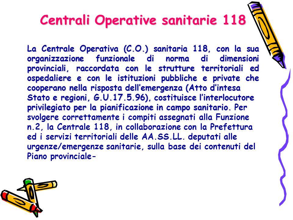 Centrali Operative sanitarie 118