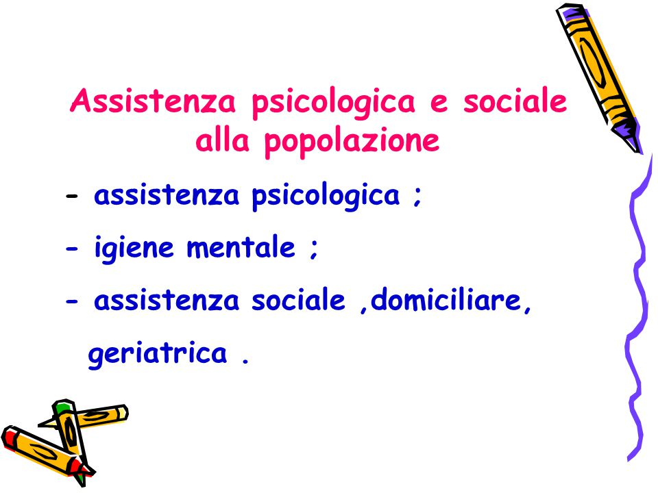 Assistenza psicologica e sociale alla popolazione