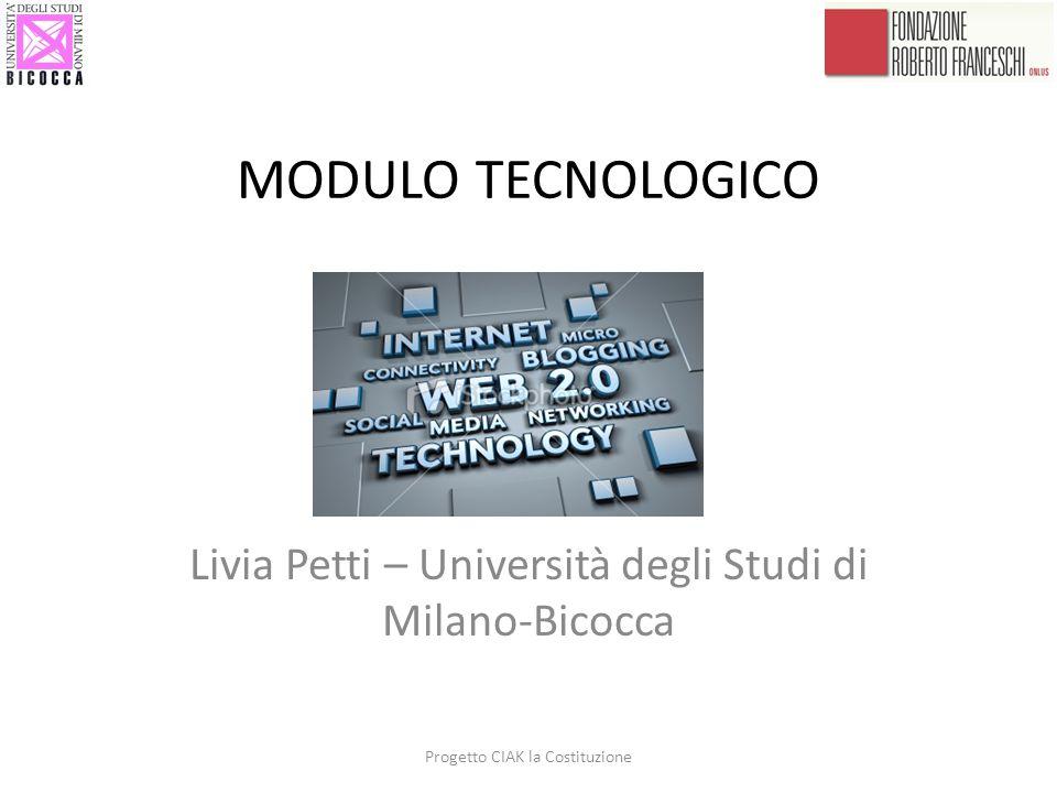Livia Petti – Università degli Studi di Milano-Bicocca