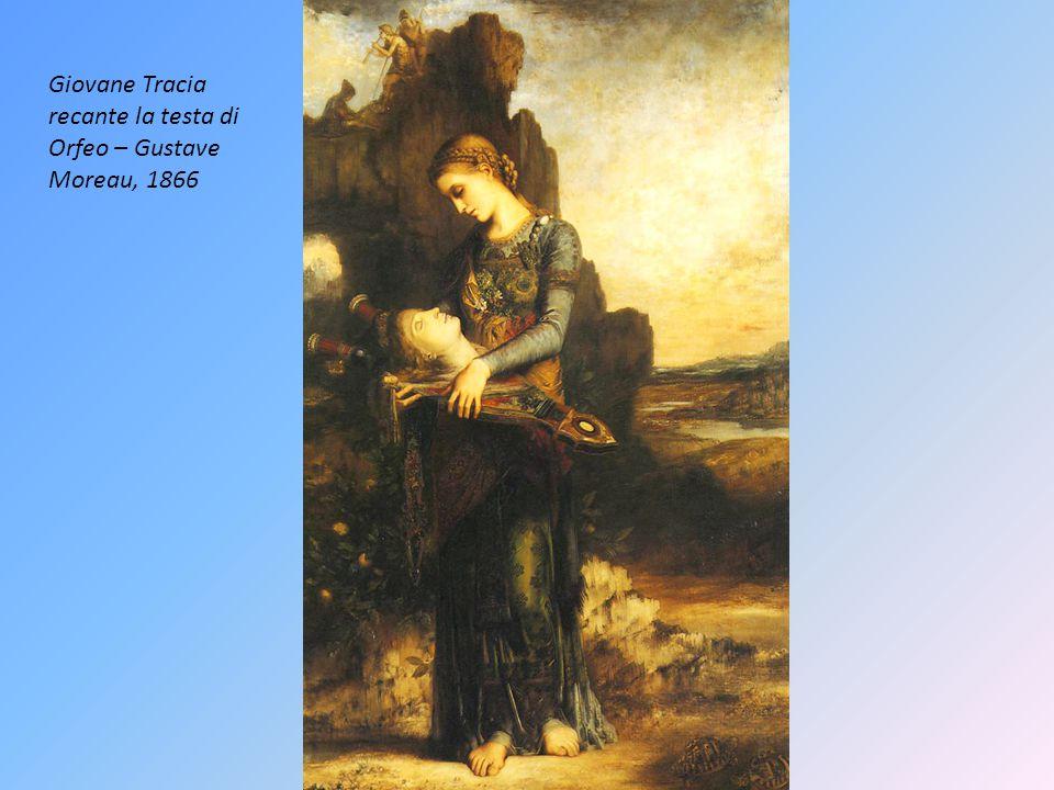 Giovane Tracia recante la testa di Orfeo – Gustave Moreau, 1866