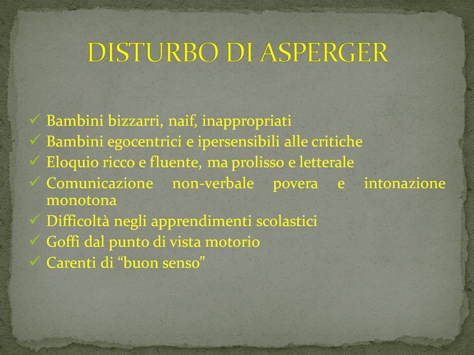 DISTURBO DI ASPERGER 09/03/12