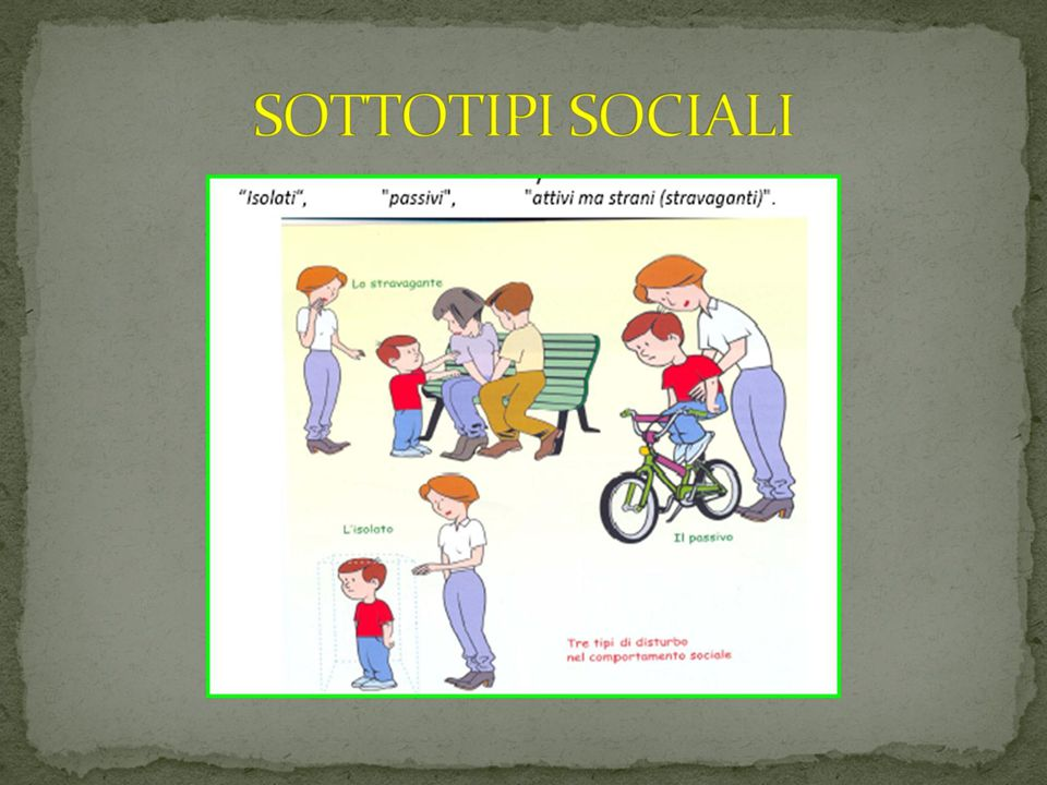 SOTTOTIPI SOCIALI 09/03/12