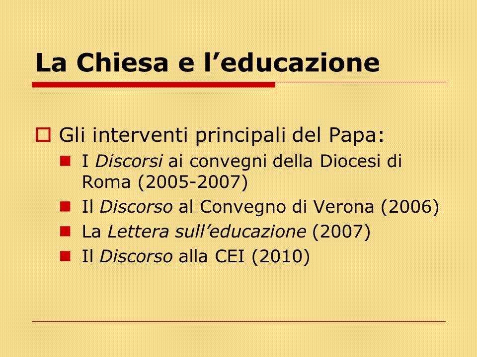 La Chiesa e l'educazione