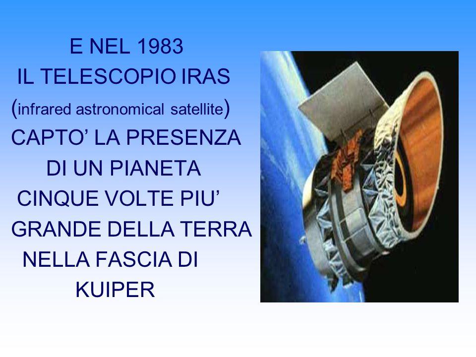 E NEL 1983 IL TELESCOPIO IRAS. (infrared astronomical satellite) CAPTO' LA PRESENZA. DI UN PIANETA.