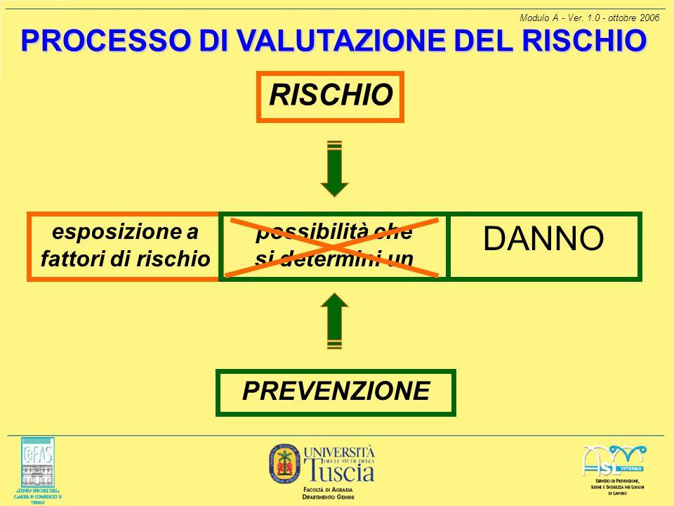 esposizione a fattori di rischio
