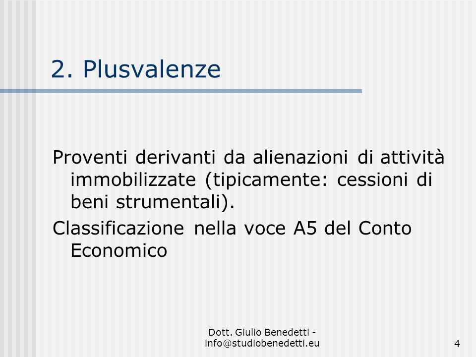 Dott. Giulio Benedetti - info@studiobenedetti.eu