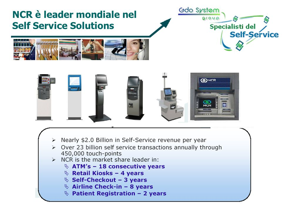 NCR è leader mondiale nel Self Service Solutions