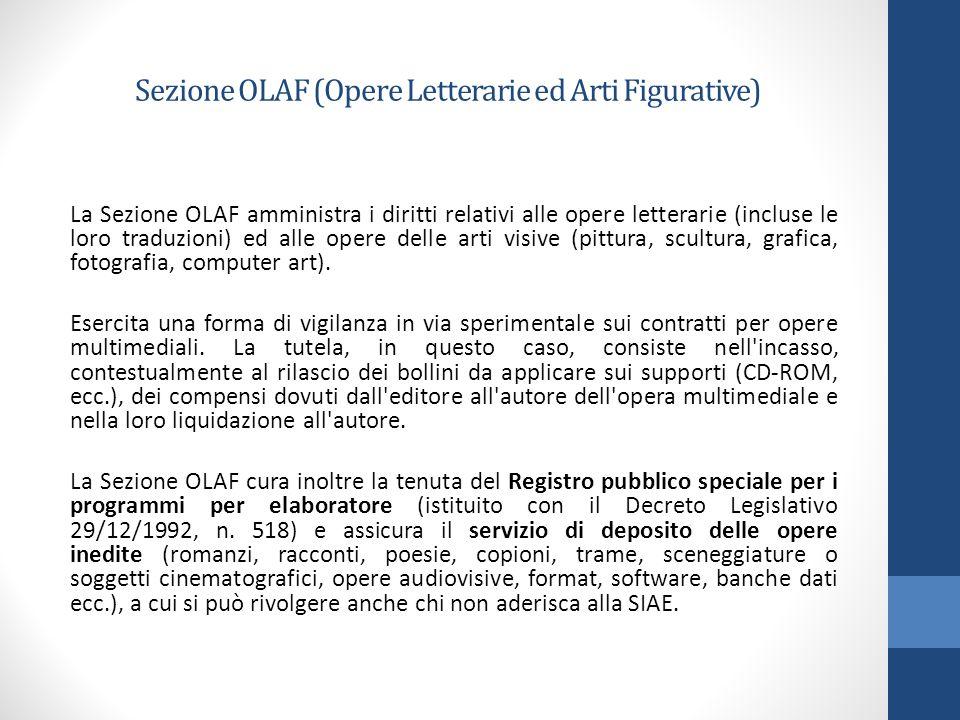 Sezione OLAF (Opere Letterarie ed Arti Figurative)