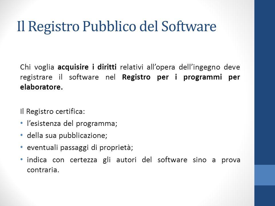 Il Registro Pubblico del Software