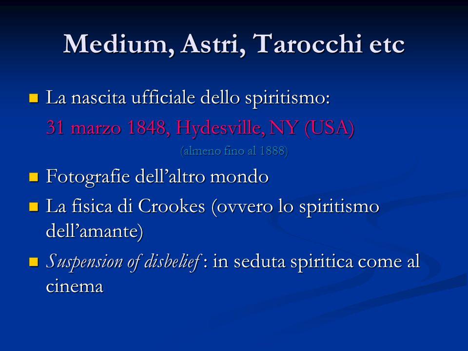 Medium, Astri, Tarocchi etc