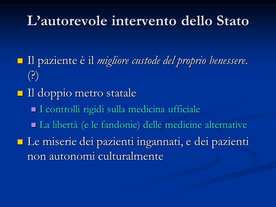 L'autorevole intervento dello Stato