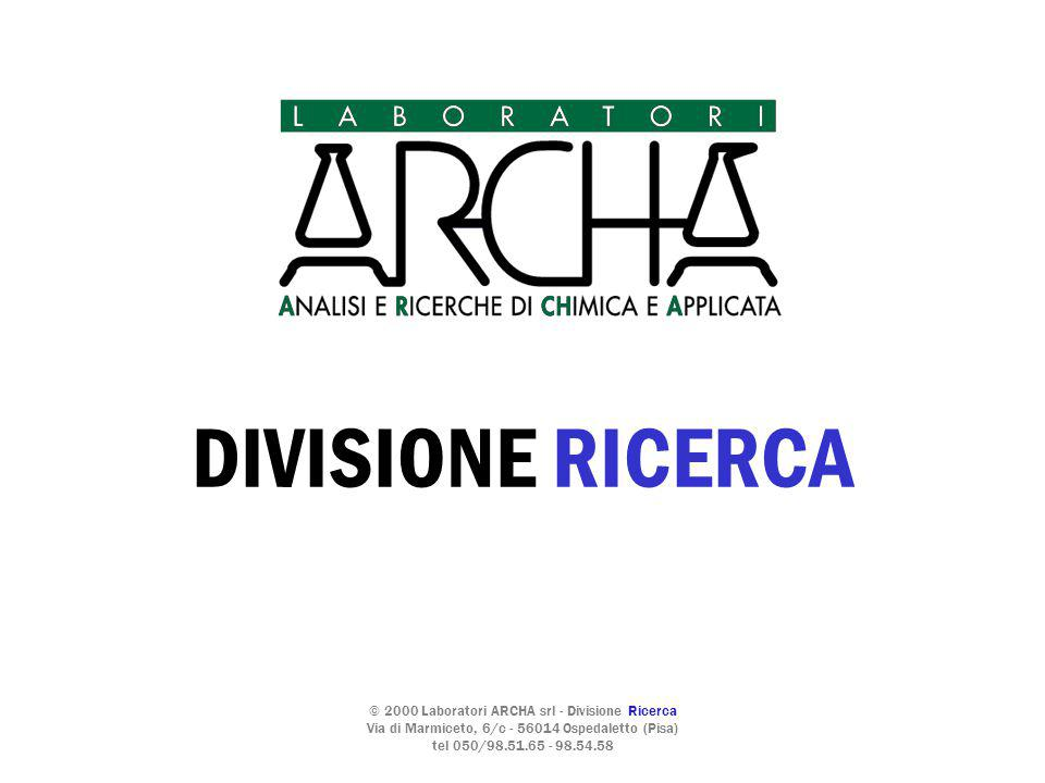 DIVISIONE RICERCA © 2000 Laboratori ARCHA srl - Divisione Ricerca