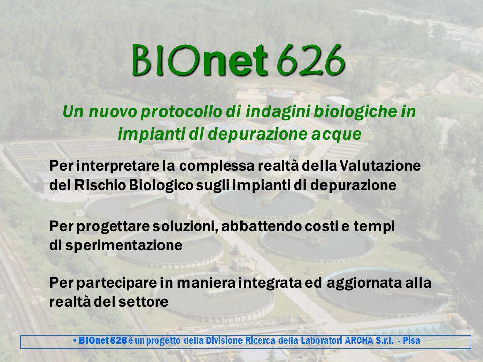 BIOnet 626 Un nuovo protocollo di indagini biologiche in impianti di depurazione acque.