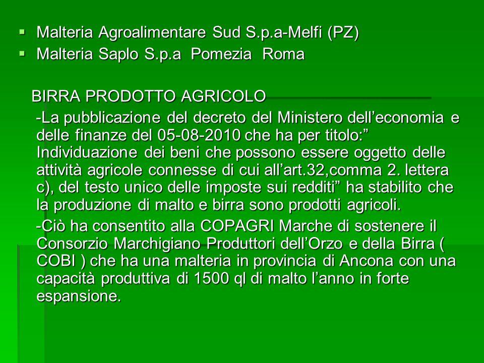 Malteria Agroalimentare Sud S.p.a-Melfi (PZ)