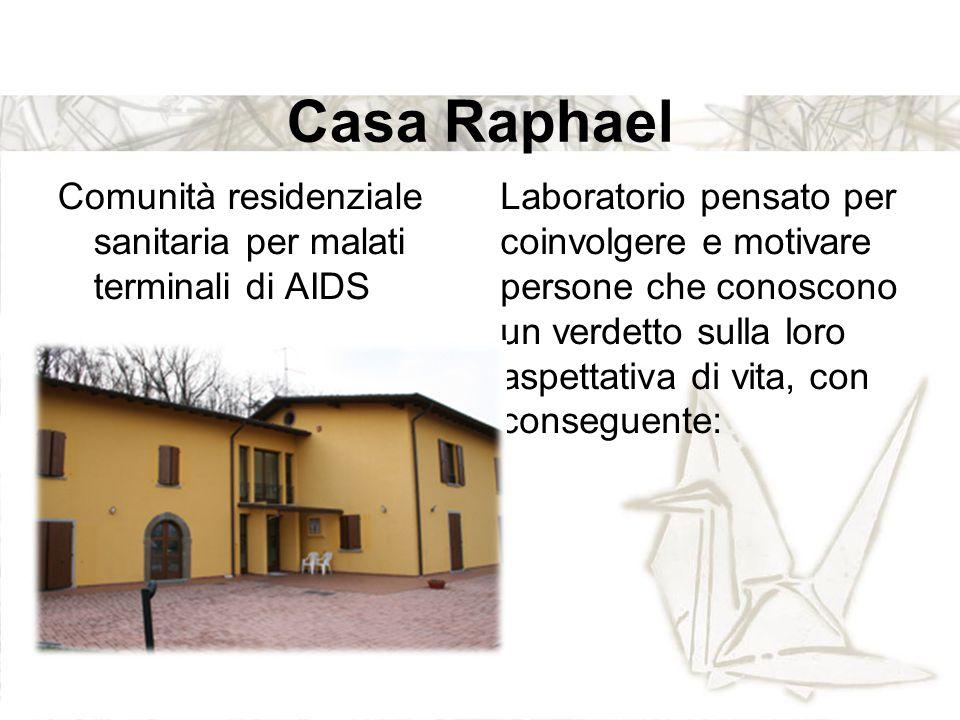 Casa Raphael Comunità residenziale sanitaria per malati terminali di AIDS.